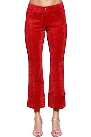 MARCO DE VINCENZO | Mujer Pantalones De Lurex Acampanados 40