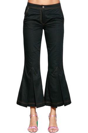 MARCO DE VINCENZO | Mujer Pantalones De Drill De Algodón Acampanados 38
