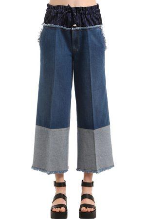 Sonia by Sonia Rykiel | Mujer Jeans Cropped De Denim Con Cintura Boxer 34