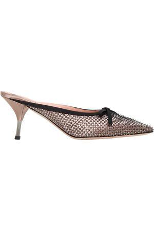 Rochas | Mujer Zapatos Mules De Satén 70mm 37