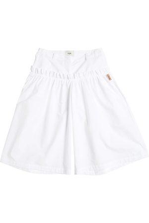 Fendi Pantalones Amplios De Popelina De Algodón