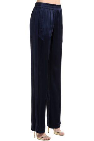 JONATHAN SIMKHAI   Mujer Pantalones De Satén Con Bandas Laterales 6