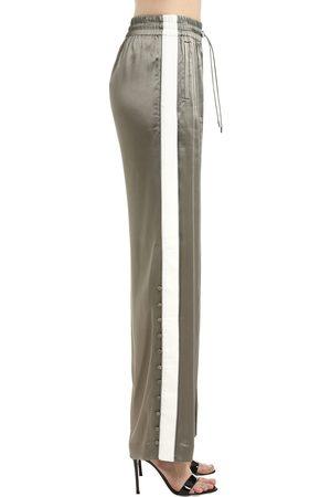 JONATHAN SIMKHAI   Mujer Pantalones De Crepé De Satén Xs