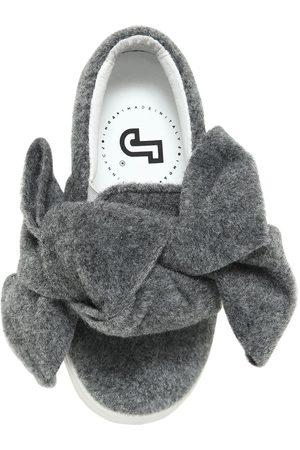 JOSHUA SANDERS   Niña Sneakers Slip-on De Piel Y Fieltro Con Lazo Maxi 33