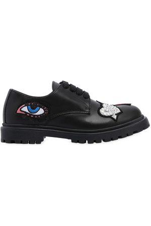 ANDREA MONTELPARE | Niña Zapatos De Piel Con Parches 34