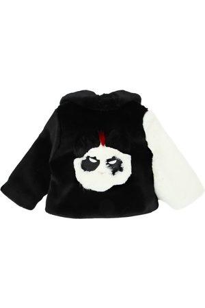 Bandits | Niña Abrigo De Ecopiel Patchwork Con Panda /blanco 4/5a