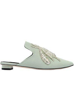 Sanayi313 | Mujer Zapatos Mules Con Araña Bordada 10mm 37