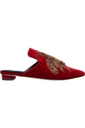 Sanayi313   Mujer Zapatos Mules De Terciopelo Con Araña Bordada 20mm 36
