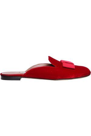 "Tabitha Simmons | Mujer Zapatos Mules ""masha"" De Terciopelo Con Lazo 10mm 40"