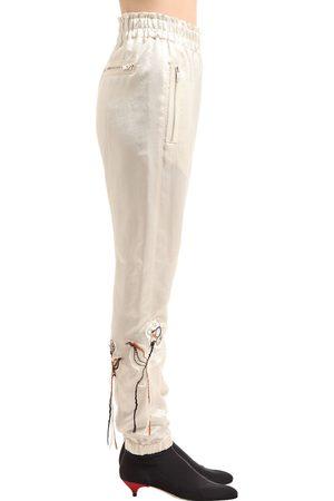 Sonia by Sonia Rykiel | Mujer Pantalones De Satén Con Flores Bordadas 36