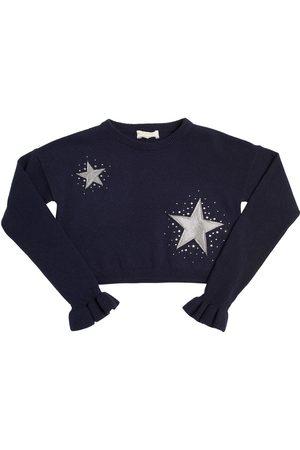 MONNALISA Suéter De Lana Decorado Con Estrellas