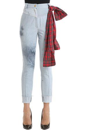 Ronald Van Der Kemp   Mujer Jeans De Denim Efecto Descolorido Y Salpicado 34