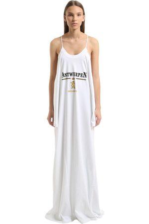 Vetements | Mujer Vestido De Jersey De Algodón Estampado Xs