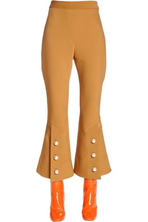 Ellery | Mujer Pantalones Cropped De Fresco De Lana Acampanados 8