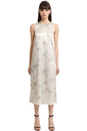 Calvin Klein | Mujer Vestido De Seda Con Estampado Floral 42