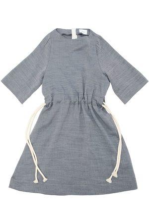 Unlabel Vestido De Franela Ligera Con Cinturón De Cuerda