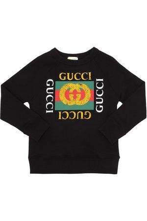 Gucci   Niño Sudadera De Algodón Con Logo Estampado 8a