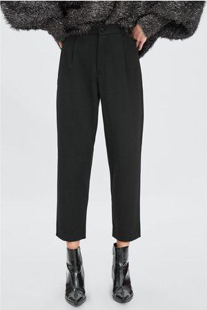 Zara Negro Chino Pantalon Mujer Pantalon Chino Zara Negro KJ3TFc1l