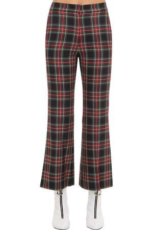 pushBUTTON | Mujer Pantalones Acampanados A Cuadros S