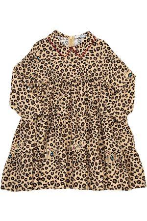 VIVETTA Vestido De Franela De Viscosa Estampado Leopardo