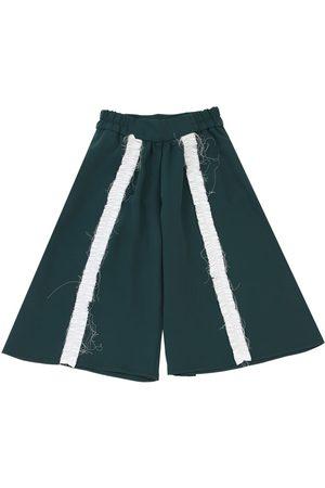 MUMMYMOON Pantalones De Crepé De China Con Volantes
