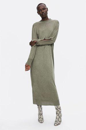 fe127042c66 Vestidos De Punto de mujer verdes ¡Compara 102 productos y compra ahora al  mejor precio!