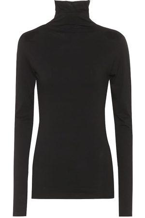 Velvet Blusa Talisia de algodón con cuello alto