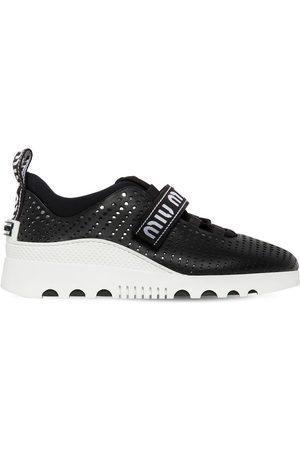 Miu Miu Mujer Zapatillas deportivas - 30mm Perforated Leather Sneakers