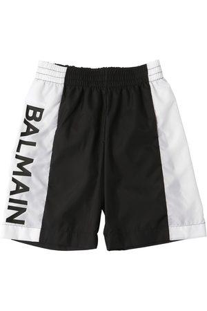 BALMAIN | Niño Bañador De Nylon Estampado /negro 8a