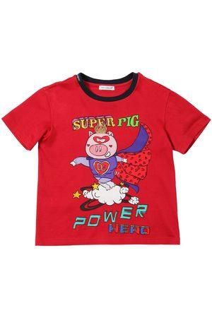 Dolce & Gabbana Camiseta De Jersey De Algodón Con Estampado