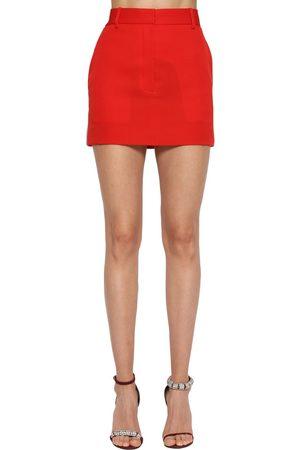 Calvin Klein | Mujer Mini Falda De Gabardina De Lana 40