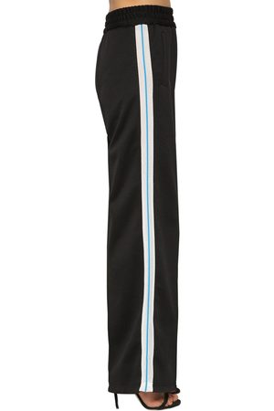 OFF-WHITE Flared Leg Mesh Side Bands Track Pants