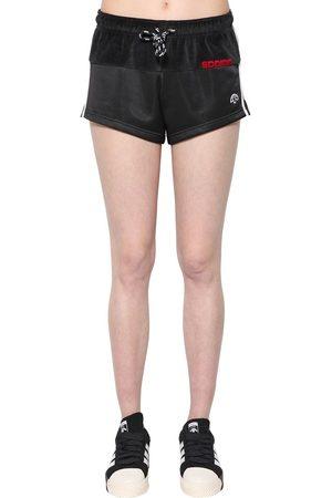 adidas | Mujer Shorts De Terciopelo Y Tech 38
