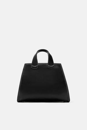 Zara Mujer Bolsos shopper y tote - BOLSO SHOPPER PESPUNTES