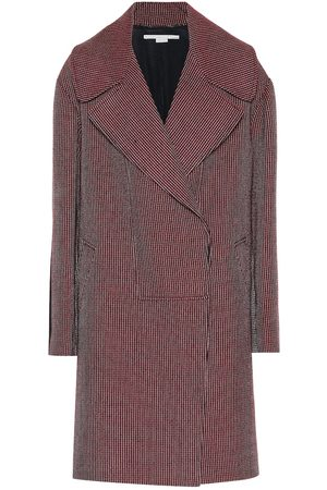 Stella McCartney Abrigo de lana pata de gallo