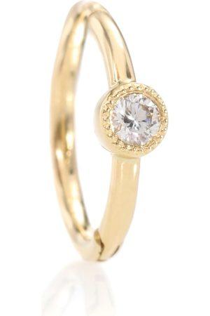 Maria Tash Arete solitario de oro amarillo de 18 ct con diamante