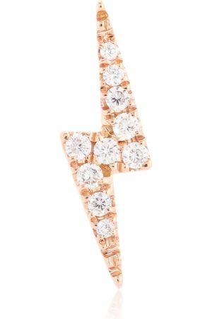 Maria Tash Arete único Diamond Lightning Bolt de oro rosa de 18 ct