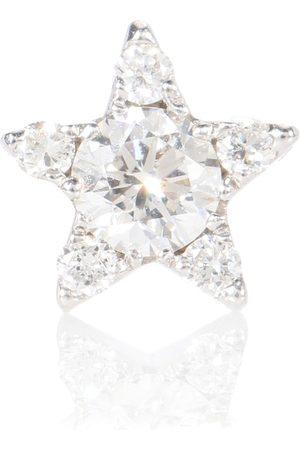 Maria Tash Arete único Diamond Star de oro de 18 ct y de diamantes