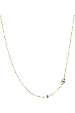 Sydney Evan Collar Mini Evil Eye de oro amarillo de 14 ct y diamante blanco