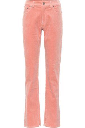 Ganni Pantalones rectos de pana elastizada