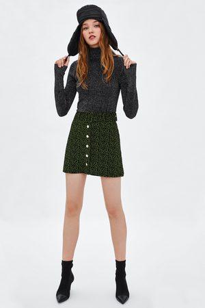 Zara Mujer Minifaldas - MINIFALDA ESTAMPADO ANIMAL