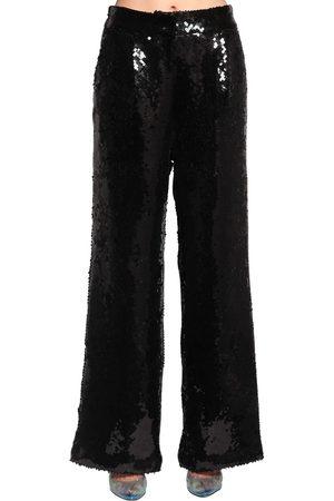 FILLES A PAPA | Mujer Pantalones Anchos Con Lentejuelas 1