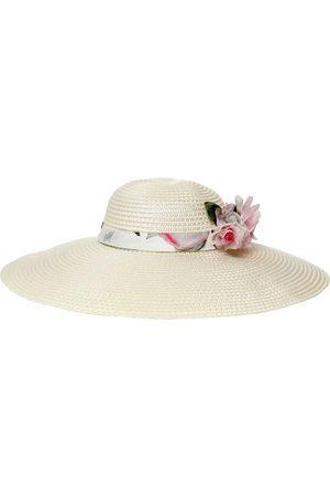 MONNALISA | Niña Sombrero De Ala Ancha Con Aplique De Flor 52