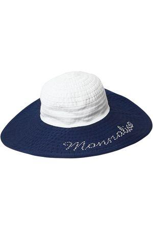 MONNALISA | Niña Sombrero De Algodón Con Ala Ancha /marino 52