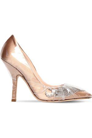 Midnight 00 | Mujer Zapatos De Plexi Y Satén Decorados 105mm 40