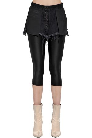"""UNRAVEL Shorts """"inside Out"""" Con Leggings"""