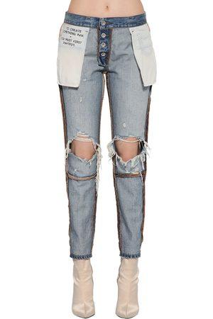 UNRAVEL Jeans De Denim De Algodón Reversibles