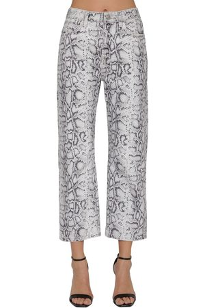 Alexander Wang | Mujer Jeans De Denim De Algodón Con Estampado Serpiente /gris 25