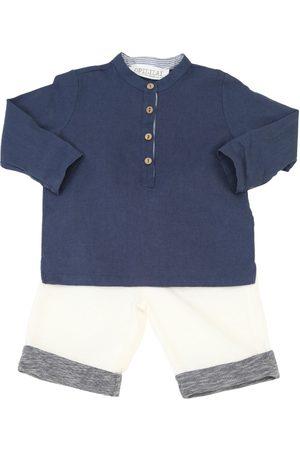 OPILILAI Niño Pantalones y Leggings - Cotton Linen Blend Shirt & Pants