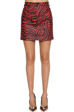 Calvin Klein | Mujer Falda De Denim De Algodón Con Estampado Cebra /negro 25